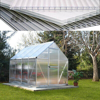 6 Polycarbonate Panel 4mm Thick Greenhouse Sheet WalkIn Garden Greenhouses Cover