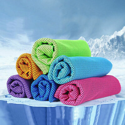 Various Colors Pursuit Stay Cool Ice Enduring Sports Jogging Cooling Towel #UK