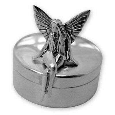 NEW - Hallmarked Sterling Silver - Tall Tooth Fairy Box - Christening Gift