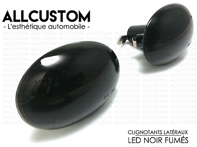 SMOKED BLACK LED SIDE MARKER LIGHTS TURN SIGNAL REPEATERS for MINI R55 CLUBMAN
