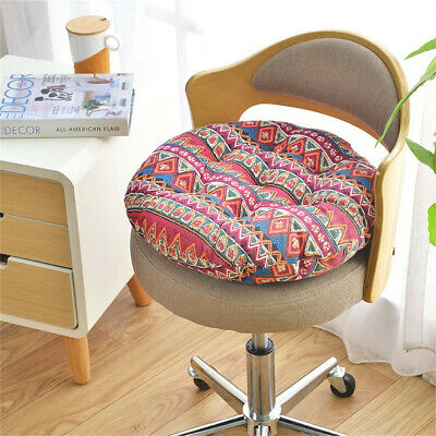 Boho Chair Cushion Round Cotton Upholstery Soft Padded Office  Seat Cushion US