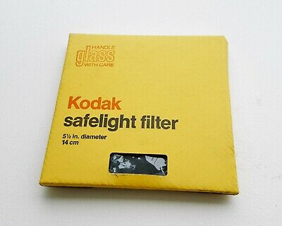 "Kodak Safelight Filter 5.5"" 14CM Diameter 0A CAT 152-1491 IN BOX DARKROOM FILM"