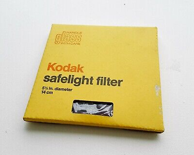 "Kodak Safelight Filter 5.5"" 14cm 1A CAT 152-1517 IN BOX DARKROOM FILM"
