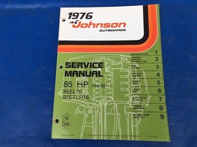 1976 Evinrude Johnson 9.9hp Outboard Factory Shop Service Repair Manual 5188