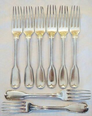 Paul Storr Sterling Silver Forks Antique Georgian silverware Set 8 C1820 (4301)
