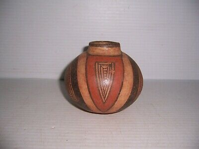 "Pre-Columbian Parita Panama Cocle Pottery Polychrome Jar 4 1/4"" x 3 1/2"""