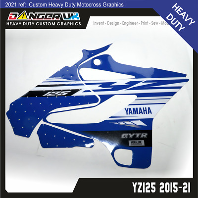 Yamaha Yz 125 19 2015-2020 Tank Rad Scoops Radiator Shrouds Graphics Decals