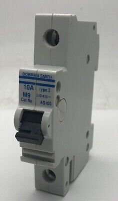Dorman Smith AS103 Single Pole M9 MCB 10Amp Type 3 Circuit Breaker BS3871