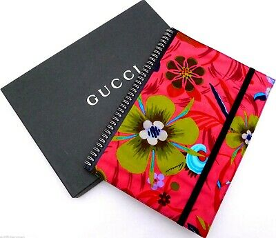 NEW Gucci*Large A4 Size*Leather & Beautiful Flower Pattern Canvas EXTREMELY RARE