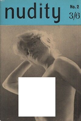Rare vintage UK pocket size magazine from the 50s or 60s: Nudity No. 2