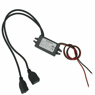 Dual USB 5V 2A 3A Car Charger Hardwire Kit for Dash Cam GPS DVR Player Etc