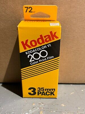 Vintage 3 Pack Unopened Kodacolor VR 200 Color Film CL 135-24-3 Kodak 04/98