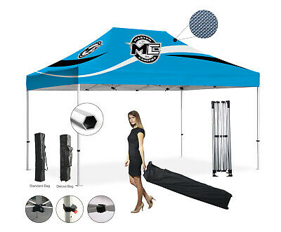 Heavy Duty Hex 10x15' Pop Up Canopy   Racing Shade Canopies   Tent Event Outdoor
