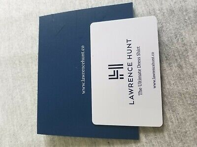 """Lawrence Hunt """"The Ultimate Dress Shirt"""" gift card 50.00 Mens and Women's"""