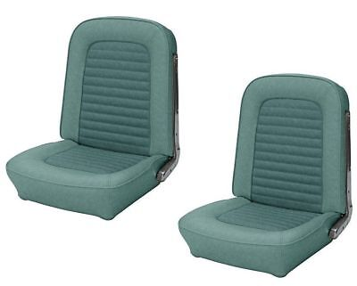 Front Bucket Seat Upholstery Turquoise 1966 Mustang Coupe, Convertible,Fastback