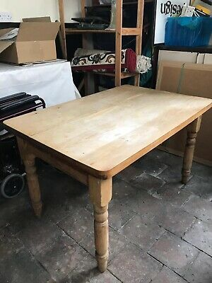 Pine Kitchen Table With Drawer