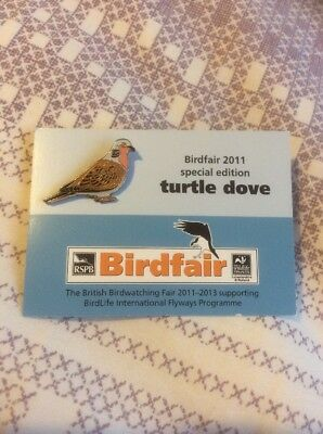Not RSPB Pin Badge Birdfair 2011 Special Edition Turtle Dove