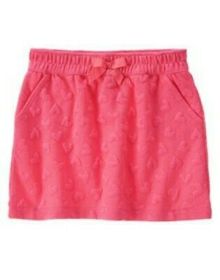 NWT Gymboree Girl FUN AT HEART Valentine's Day Pink Heart Knit Skirt  Size 6
