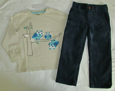 NWT Gymboree Boy ANIMAL PARTY 2pc Tee Shirt and Blue Corduroy Pants  6-12 Month