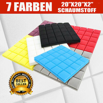 Acoustic Foam Panel Square Sound Stop Absorption Treatment Proofing  !