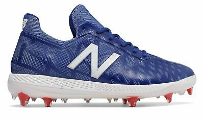 New Balance Low-Cut COMPv1 TPU Baseball Cleat Mens Shoes Blue with White & Red