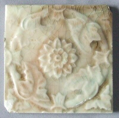 Vintage Trent Tiles Flower & Vine Wreath Antique Ceramic Aesthetic Pottery