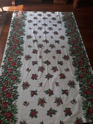 Homemade Christmas Tablecloth and Runner Cotton Rectangle Red Bells