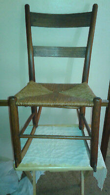 Vintage Shaker Child's Rocking Chair with Rush Seat