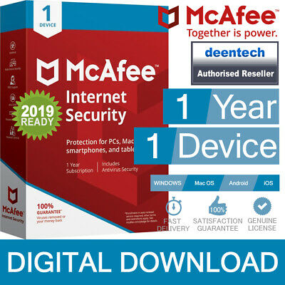 McAfee Internet Security 2020 (1PC) Antivirus Genuine Authentic License Windows