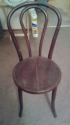 Vintage Bent Wood Ice Cream Palor Chair