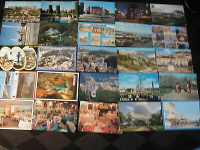 100 mixed postcards1930s-1980s US,Russia, Europe used and unused