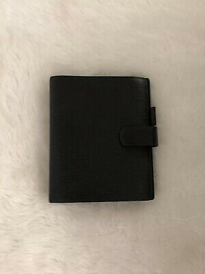 Louis Vuitton Epi Black Leather Agenda 100% Authentic.