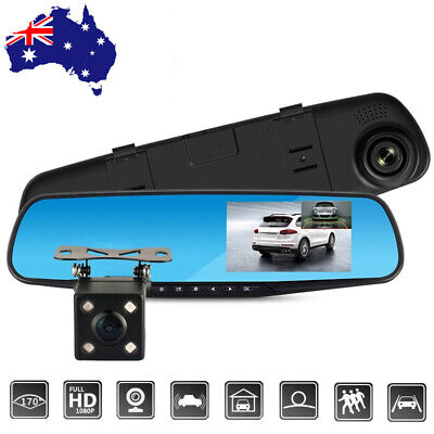 1080P HD Car DVR Dash Cam Vehicle Front and Rear Camera Dual Lens Video Recorder