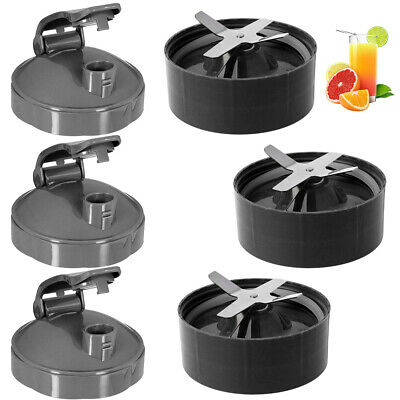 1/2/3X  Cup Lid&Extractor Blade Replacement for NutriBullet 600W 900W  US STOCK