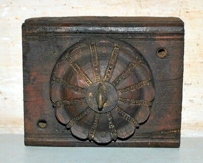 Old Antique India Wooden Hand Carved Black Wall Fixing keys Cloth Hanger Rare