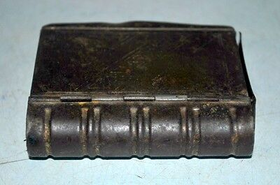 Vintage India Old Iron Hand Crafted Book Shape Islamic Betel Nut Box