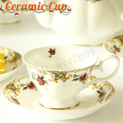 Ceramic Cup & Saucer Plate Tea Set For Coffee Milk High Tea England Cup Gifts
