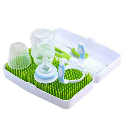 Baby Bottle Drying Rack and Dishwasher Storage Box with Waterproof Lid JA