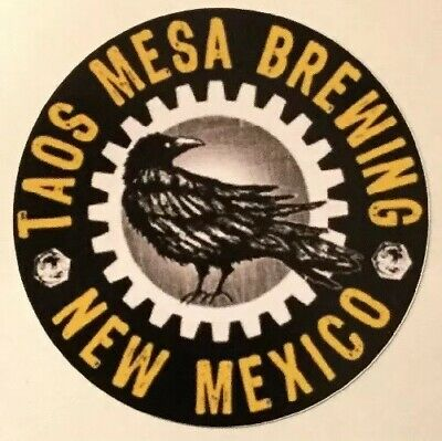 Taos Mesa Brewing Company Sticker decal craft Brewery Micro New Mexico El Prado