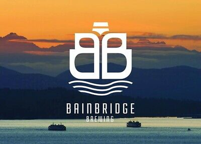 Bainbridge Brewing Company Sticker decal craft Brewery Micro Island Washington