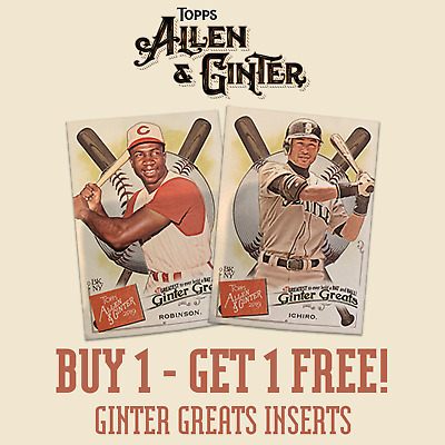 2019 Topps Allen & Ginter Ginter Greats - You Pick Your Card - Buy 1 Get 1 Free!
