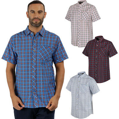 Regatta Mens Deakin II Coolweave Cotton Short Sleeve Button Down Shirt