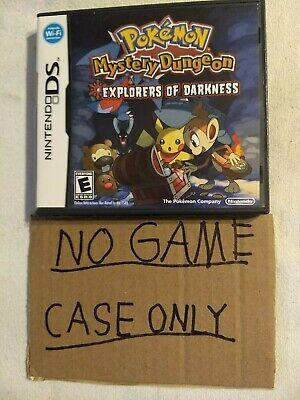 Pokemon Mystery Dungeon: Explorers of Darkness (Nintendo DS, 2008) case only