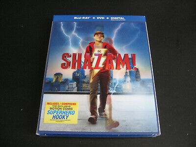 SHAZAM! Blu-ray & Digital Code + Slipcover NO DVD 2019 Zachary Levi Mark Strong