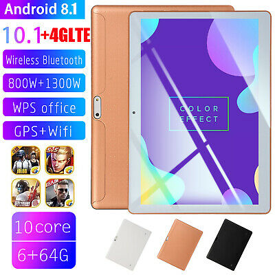 """10.1"""" 4G-LTE Tablet PC 6+64G Ten Core Android 8.1 Wifi Phone Phablet 2 SIM GPS"""