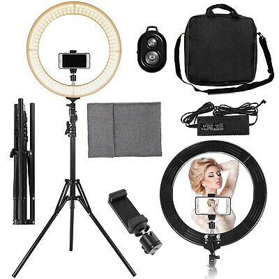 """NEW 19"""" Outer Dimmable SMD LED Ring Light Lighting Kit with 82-inch Stand"""