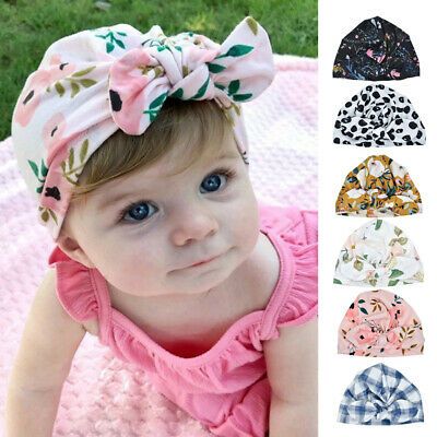 Newborn Infant Kids Baby Boy Girl Indian Turban Knot Cotton Beanie Hat Cap 2019