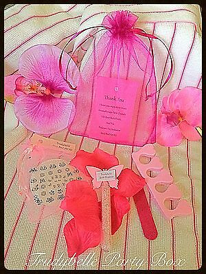 Hot Pink Teen Girls Spa / Pamper / Sleepover Party Thank you Bags Prefilled