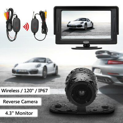 4.3'' TFT LCD Car Wireless Monitor Rear View + Reversing Backup Parking Camera !
