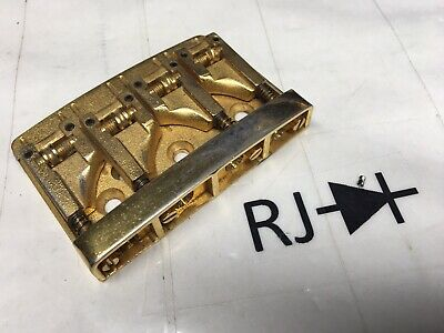 80's Schaller 3D-4 Kramer Electric Bass Guitar Roller Bridge Gold